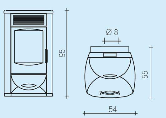 edilkamin wasserf hrender pelletofen idrotech 11 kw marburg leguan energiesysteme. Black Bedroom Furniture Sets. Home Design Ideas